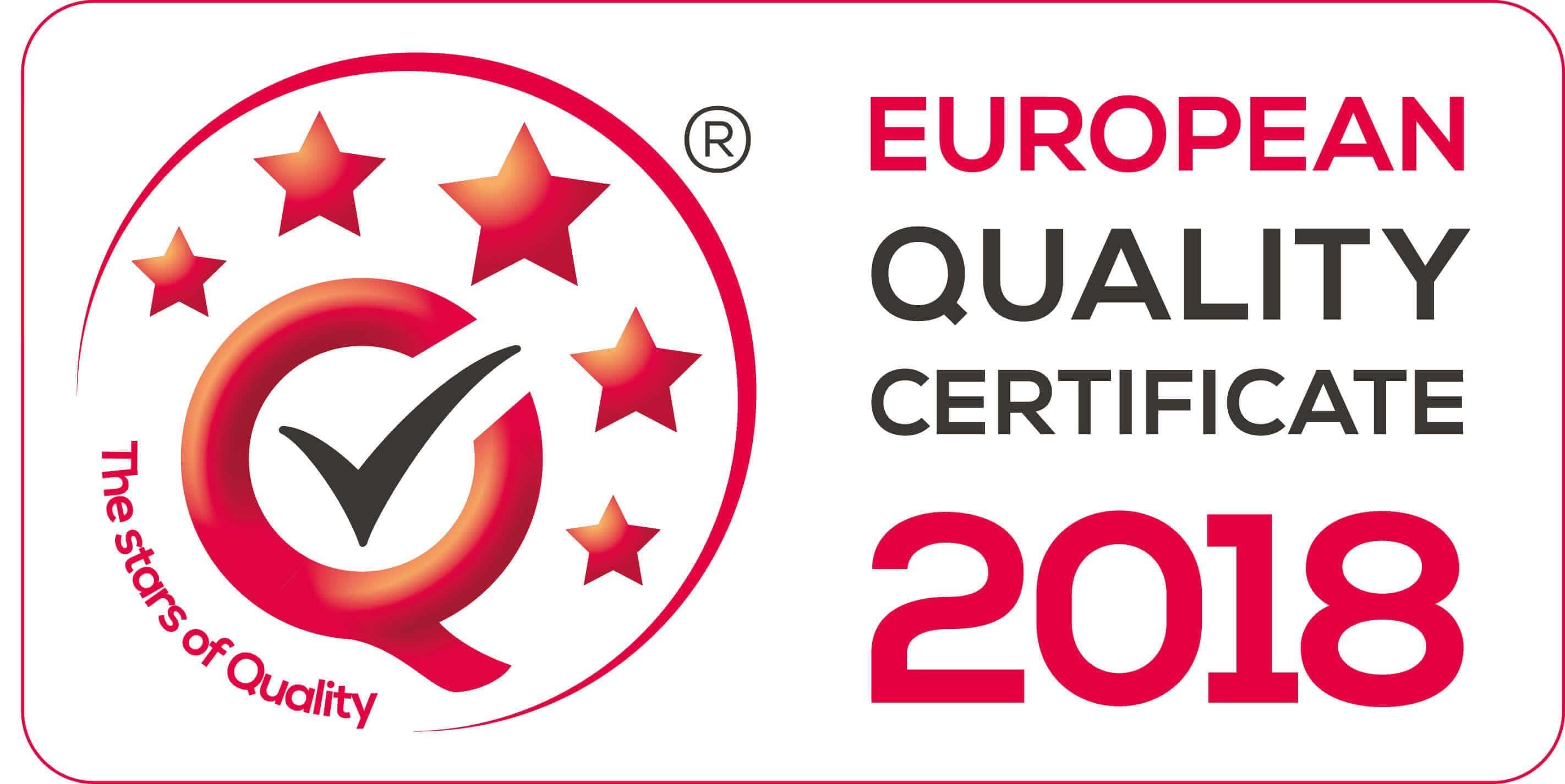 EQC 2018 en - EUROPEAN QUALITY CERTIFICATE 2018